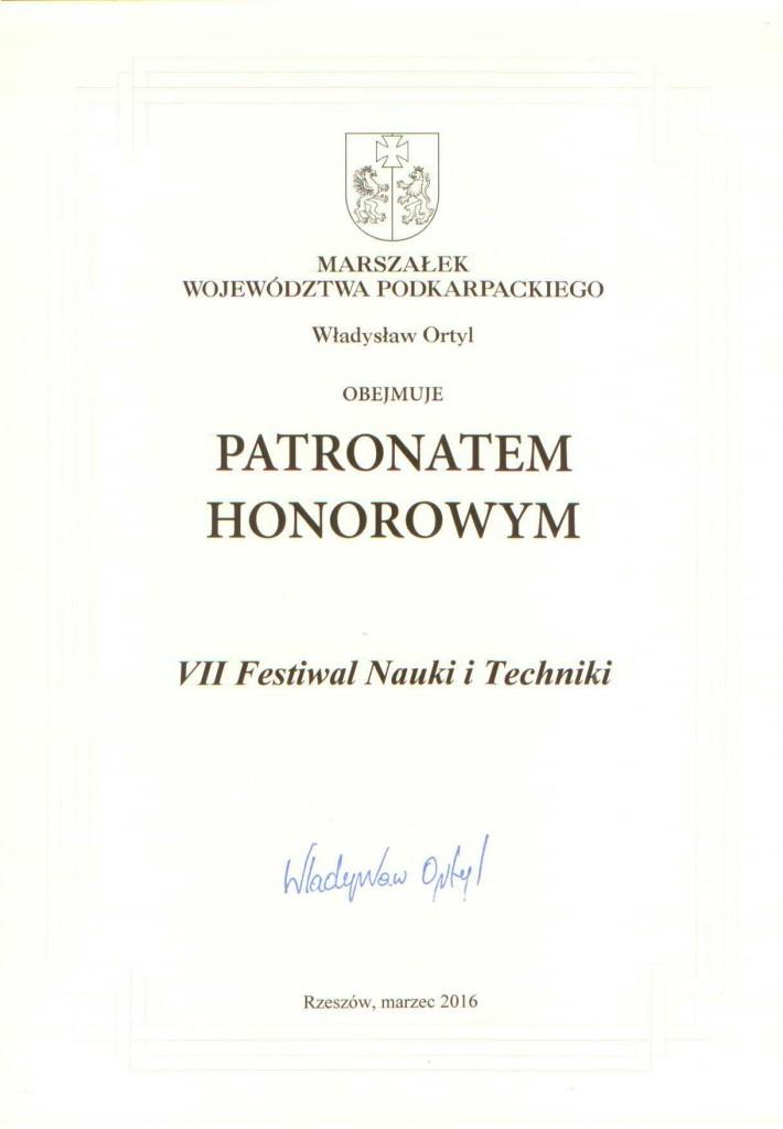 Marszałek Województwa Podkarpackiego_patronat hyonorowy_2