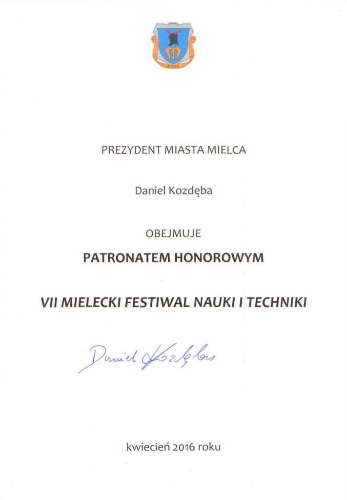 Prezydent Miasta Mielca_patronat honorowy_1